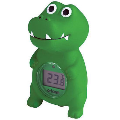 Ababy-ababy.com.au-Oricom Digital Bath and Room Thermometer with Temperature Alert - Crocodile-Bath & Health-Oricom-Ababy