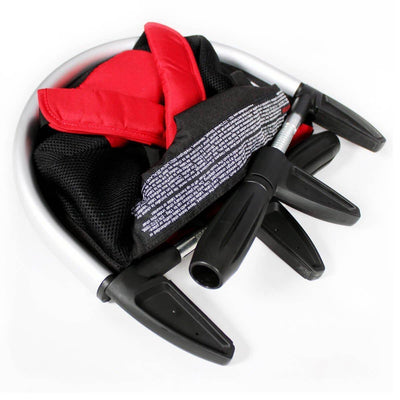 Ababy-ababy.com.au-Phil & Teds Lobster Clip on Portable Highchair Black Red-Feeding-Phil & Teds-Ababy