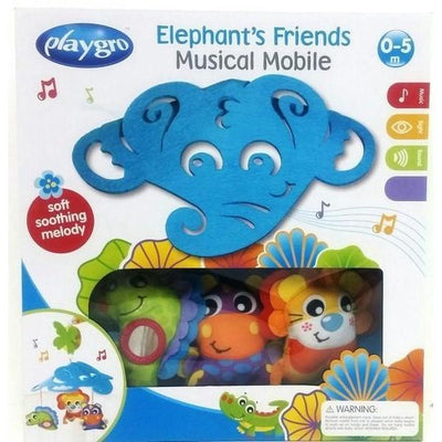 Ababy-ababy.com.au-Playgro Elephant Friends Musical Mobile-Nursery-Playgro-Ababy