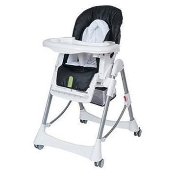 Ababy-ababy.com.au-Steelcraft Messina DLX Hi Lo Highchair-Feeding-Steelcraft-Onyx Black DUE MID SEPTEMBER-Ababy