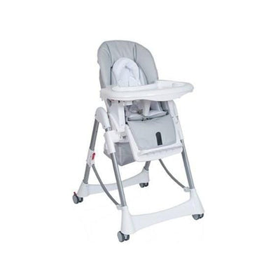 Ababy-ababy.com.au-Steelcraft Messina DLX Hi Lo Highchair-Feeding-Steelcraft-Silver-Ababy