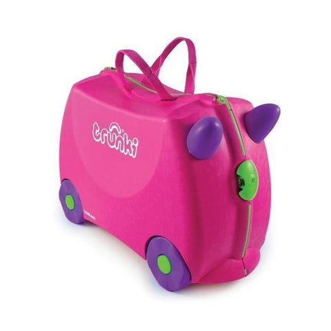 Ababy-ababy.com.au-Trunki Ride on Luggage - Trixie (Pink)-Out & About-Trunki-Ababy