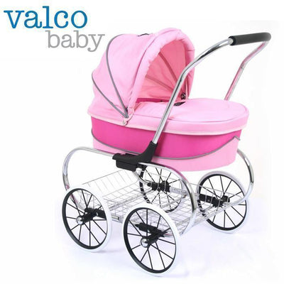 Ababy-ababy.com.au-Valco Princess Doll Stroller LIMITED STOCK ARRIVING IN DECEMBER-Playtime-Valco-Hot Pink-Ababy