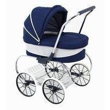 Ababy-ababy.com.au-Valco Princess Doll Stroller LIMITED STOCK ARRIVING IN DECEMBER-Playtime-Valco-Navy-Ababy