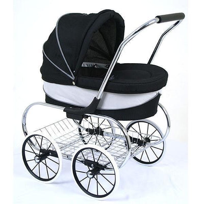 Ababy-ababy.com.au-Valco Princess Doll Stroller LIMITED STOCK ARRIVING IN DECEMBER-Playtime-Valco-SOLD OUT Black Raven-Ababy