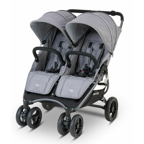 Ababy-ababy.com.au-Valco Snap Duo Tailormade-Prams & Strollers-Valco-Grey Marle-Ababy