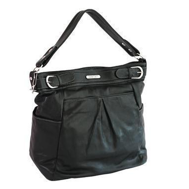 Ababy-ababy.com.au-Vanchi London Hipster Leather Nappy / Diaper Bag-For Mum-Vanchi-Black-Ababy