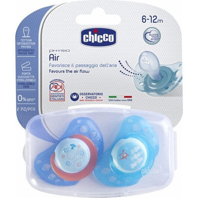 Chicco Physio Air Silicone Soother Pacifier  4 Plus Months - Boy