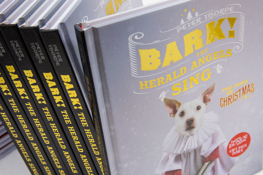 """Bark! The Herald Angels Sing""  Signed copies of the new book by Peter Thorpe"