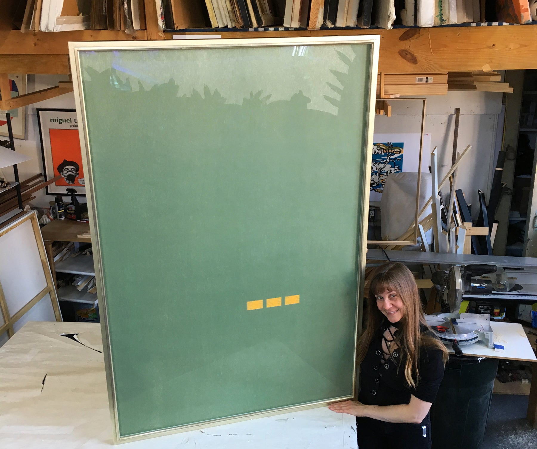 A Custom Gilded Frame for American Icon Alex Katz