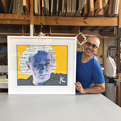Clemente Soto Velez Silkscreen by artist Miguel Trelles framed at Frames and Stretchers