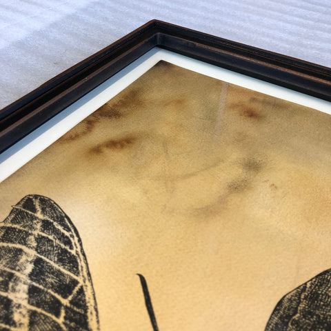 Custom-Steel-frame-in-NYC-for-alexis-diaz-skull-silkscreen-print-riveted-archival-rice-paper-Japanese-mounting_Detail.JPG