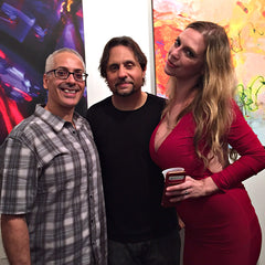 SLAYER Drummer DAVE LOMBARDO's art opening with Erick Sanchez and Grace Perez