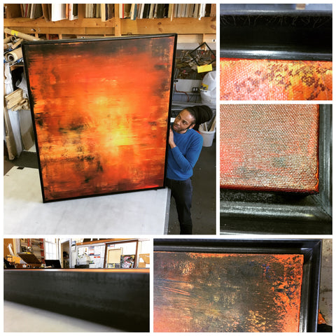 Derek_Kaplan_3_copper_frames_welded_Frames_and_Stretchers_NYC