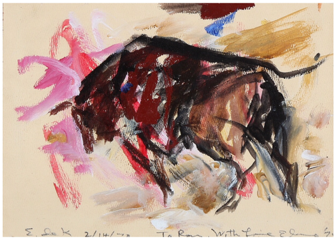 Elaine de Kooing work on paper bullfight