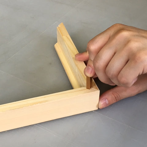 Dovetail Keys are started into keyways by hand and then driven home with a hammer