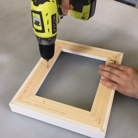 Drill evenly spread holes around the frame and closer to the inner side.