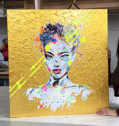 Pinar Du Pre Gold Leaf portrait painting
