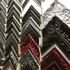 Custom Framed Mirrors available in all colors at Frames and Stretchers