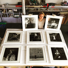 Inta Ruka photography framed by Frames and Stretchers for her next show in NYC