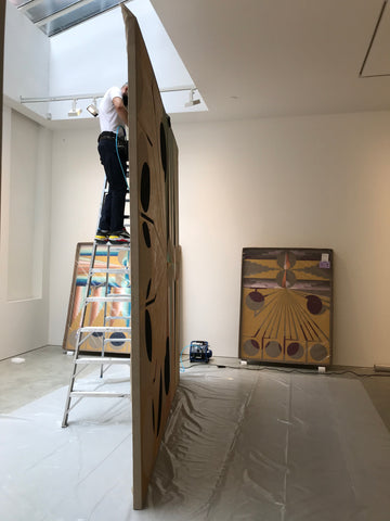 Large-Canvases On-Site-Stretching-in-nyc