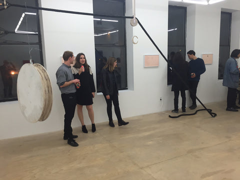 Lorenzo Bernet's art show at Hester Gallery, framed by Frames and Stretchers, NYC