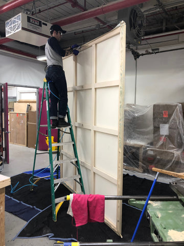 On-site-picture-framing-and-canvas-stretching-NYC