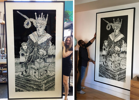 Alejandro Sainz Woodcuts Contemporary Art Cuban Artist