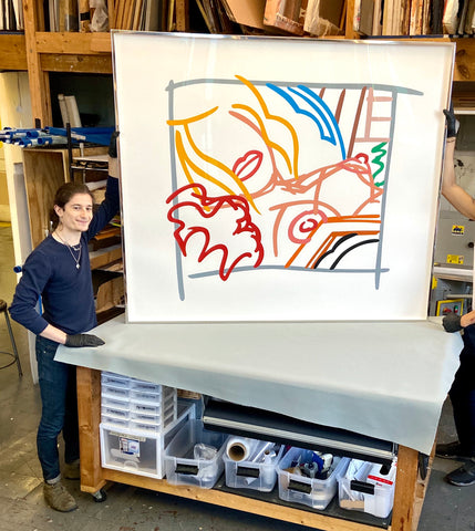 Stainless-Steel-picture-framing-in-New-York-Tom-Wesselmann-Print