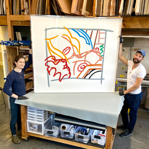 Stainless-Steel-picture-framing-in-New-York-Tom-Wesselmann-Print_Frames_And_Stretchers_NYC