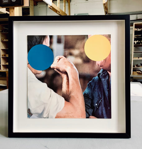 Two-Opponents-blue-and-yellow-John-Baldessari-Frames-and-stretchers-best-custom-picture-framing-nyc