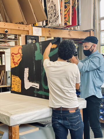 archival-framing-jean-michel-basquiat-stretching-canvas-artist-hinges-frames-and-stretchers-new-york-nyc-new-haven-miami