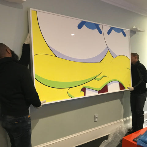 art-installation-company-in-new-york-city-Kaws-Painting
