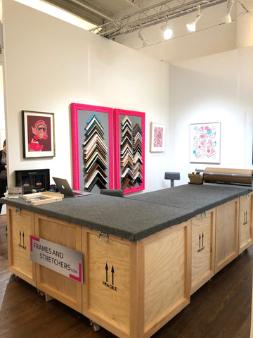 Scope Art Fair: Fine Art Installation and Packaging by Frames and Stretchers NYC