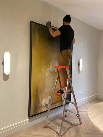 floater-frames-for-canvas-paintings-Installation-in-tribeca
