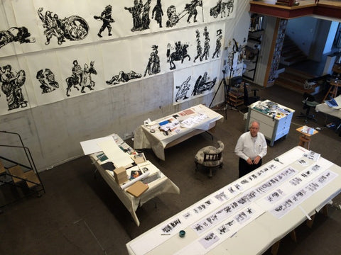 William Kentridge Images for the mural reverse graffiti