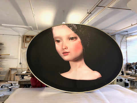 Oval-painting-picture-framing-store-tribeca