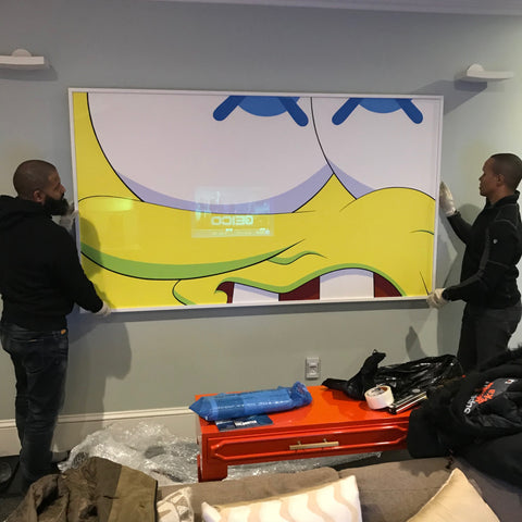 picture-framning-services- new-york-city-Kaws