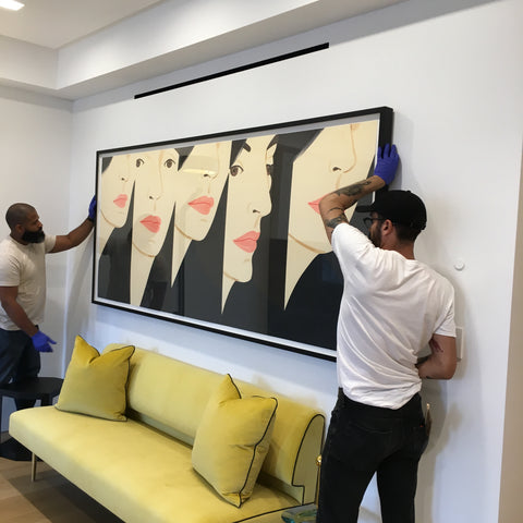 Fine Art Installation NYC: Alex Katz Original Artwork, Framed by Frames and Stretchers