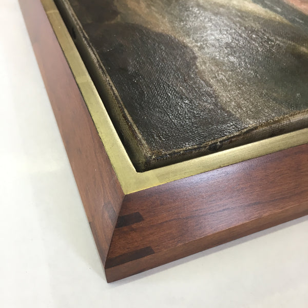 Museum Quality hardwood modern Floater frames with gilding for paintings