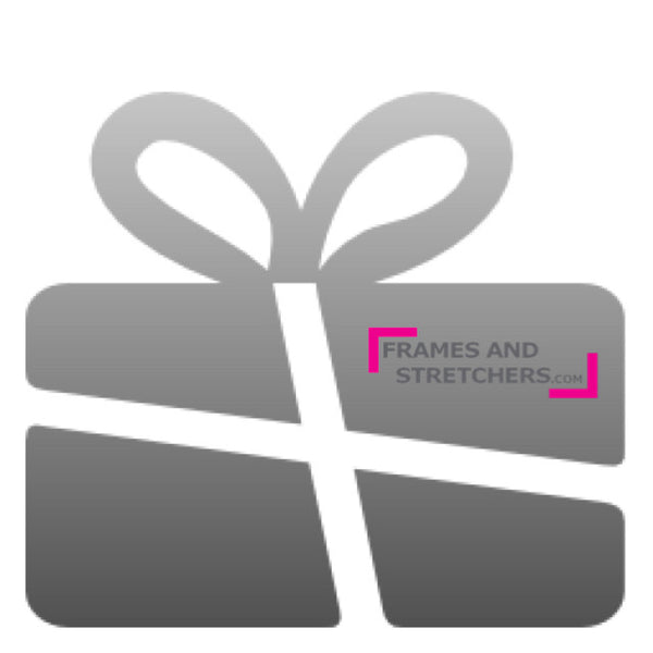 Gift card from Frames and Stretchers