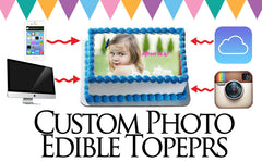 Custom Photo Edible Image Toppers