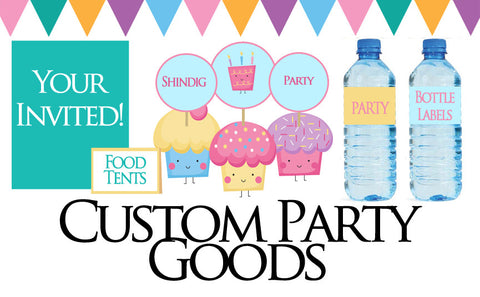 Custom Party Goods