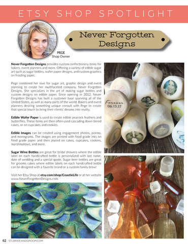 Never Forgotten Designs Business Magazine Article