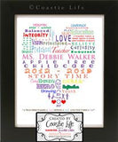 Teacher Educator Word Art Typography Heart Gift Design - Never Forgotten Designs