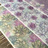 Edible Cream & Lavender Floral Designs on Wafer Paper - Never Forgotten Designs