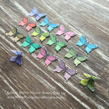 Edible Colorful Miniature Butterflies on Wafer Paper