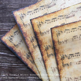 Edible Vintage Aged Music Sheets on Wafer Paper - Never Forgotten Designs