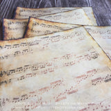 Edible Vintage Aged Music Sheets on Wafer Paper