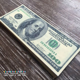 Edible Life Size Precut Money $100 Bills on Wafer Paper - Never Forgotten Designs